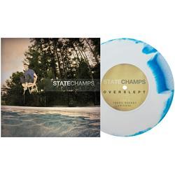 Overslept White / Aqua Blue Aside/Bside Vinyl 7
