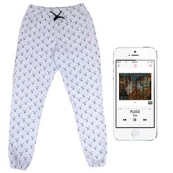 All-Over-Print White Sweatpants + Zoo Digital Album