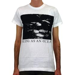 Being As An Ocean - Drums White T-Shirt