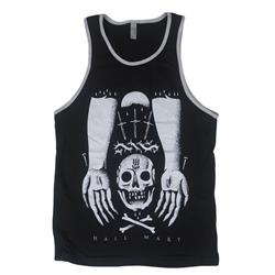 Skull Hands Black Tank Top