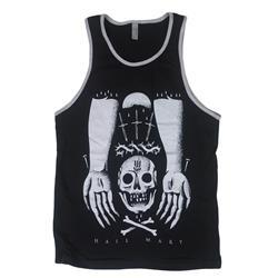 Skull Hands Black Tank Top