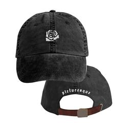 Rose Washed Black Dad Hat