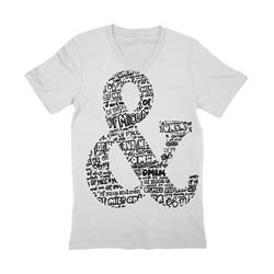Ampersand V-Neck White