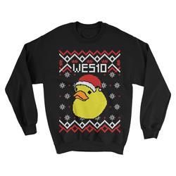 Duck Christmas Black