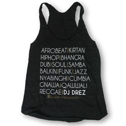 Mantralogy DJ Drez Music Tri-Black Racerback Tank Top