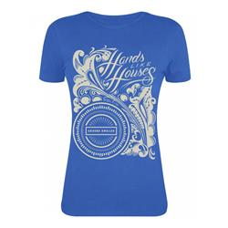 Flowery Print Royal Blue Girls  X