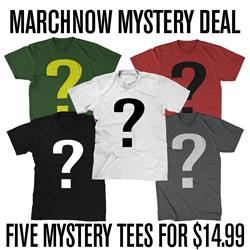 FIVE MYSTERY TEES FOR $14.99
