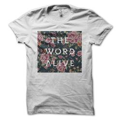 Floral Square White Girl's T-Shirt