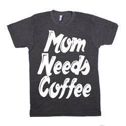 Mom Needs Coffee Script Black Baby/Toddler/Kids Tee
