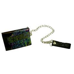 Splatter Skull Black Chain Wallet