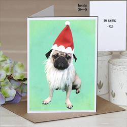 Bah Hum-Pug Holiday Card