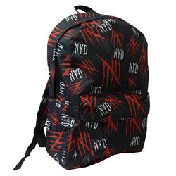 Logos All-Over-Print Black BackPack