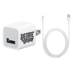 Logo Iphone White Charger W/ Lightning Plug