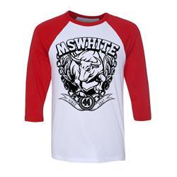 Bull Red/White Baseball Shirt