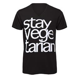 Stay Vegetarian Black