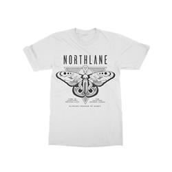 Obelisk Moth White T-Shirt