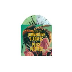 Summertime Gladness Half Doublemint/Half Clear Blue with Black Splatter 7