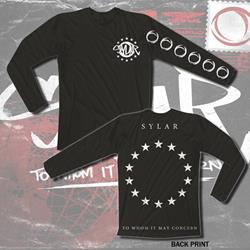 Stars Black Long Sleeve Shirt