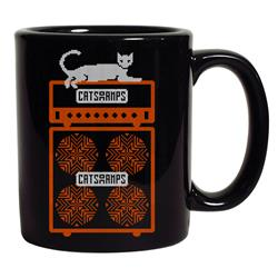 White Cat Black Coffee Mug