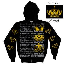 Royal Family Clothing Crowns Black