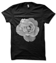 Worthwhile - Flower Black T-Shirt