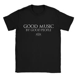 Good Music By Good People Black T-Shirt