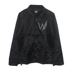 Custom Embroidered Logo Black Windbreaker