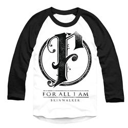 F Logo Black/White Baseball Shirt