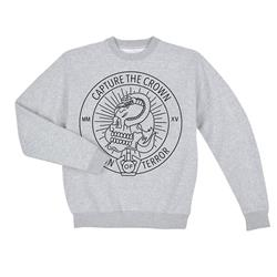 Skull Snake Heather Grey Crewneck