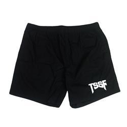 Logo Black Embroidered Shorts