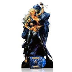 Triumph And Agony Live White & Blue Marble + Cardboard Stand