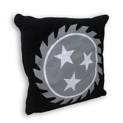 *Limited Stock* Sawblade Black Throw Pillow