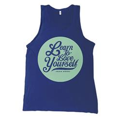 Love Yourself Blue Tank Top