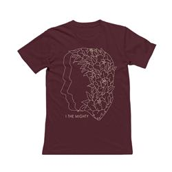 Floral Silhouette Burgundy Red