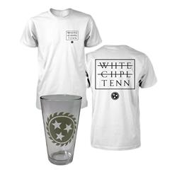 Strike Through Tee & Pint Glass