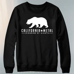Metal Black Crewneck Sweatshirt