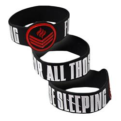 Red Symbol Black Wristband