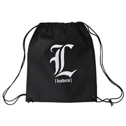 L Logo Black Cinch Bag