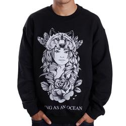Wolf Girl V2 Black Crewneck