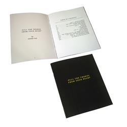 Pull The Thorns From Your Heart Lyric Book