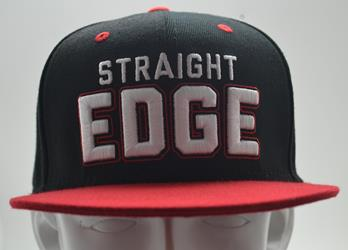 Motive Company STRAIGHT EDGE Black/Red Snapback Hat