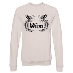 Peacock Heather Dust Crewneck