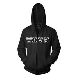 WHVN Black Zip Up Sweatshirt