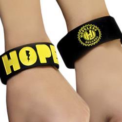 Hope Black W/ Yellow Text Wrist Band