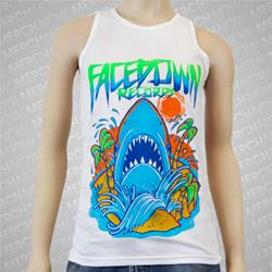 Summer Shark White Tank Top *Final Print*