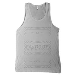 Geometric White Tank Top