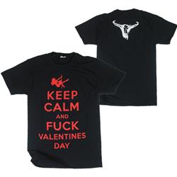 Keep Calm & Fuck Valentine's Day Black