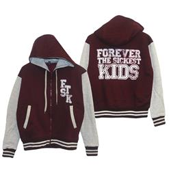 Letterman Maroon/Grey Zip-Up Sweatshirt *Final Print!*