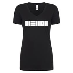DIEMON Black Womens T-Shirt