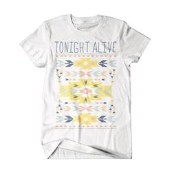 Indian Pattern White T-Shirt